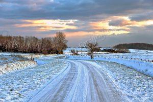 Zuidhaffel, Hogeberg in een sneeuwlandschap