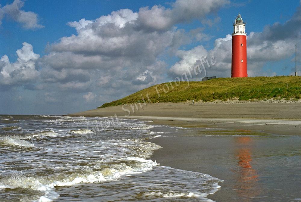 Vuurtoren Texel met de zee